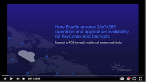 Bluefin Payments Systems webinar on Continuent Clustering